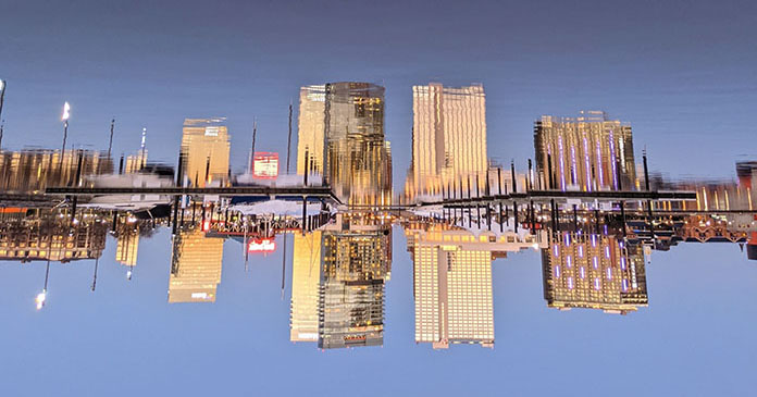 Reflective skyline at Inner Harbor, Baltimore