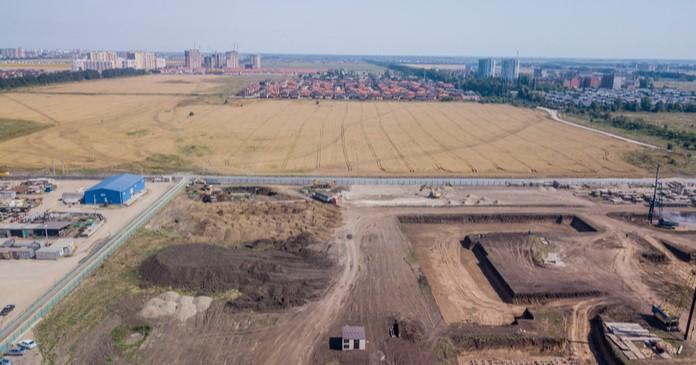 apartment construction site